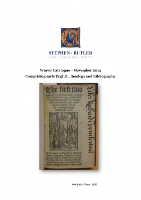 Butler Books Winter Catalogue 2014
